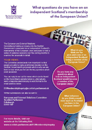 Call for Evidence leaflet