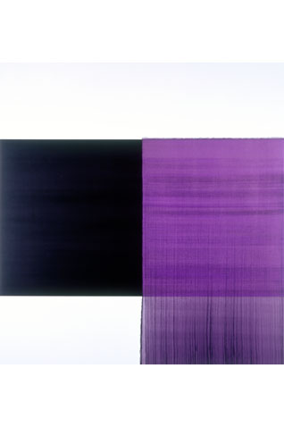 Exposed painting by Callum Innes