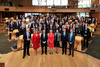 Delegates who attended the Edinburgh International Culture Summit photographed in the Debating Chamber