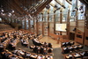 The Debating Chamber of the Scottish Parliament hosts the opening ceremony of the Edinburgh International Culture Summit.