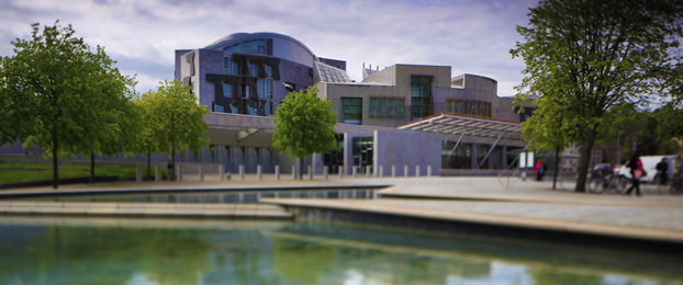 Front entrance of the Scottish Parliament