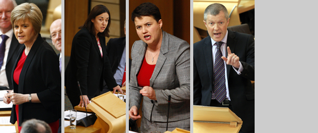 First Minister, Kezia Dugdale, Ruth Davidson and Willie Rennie