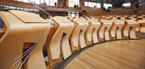 Image of the Chamber Desks at the Scottish Parliament