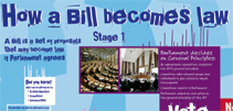 Image of how a bill becomes law poster