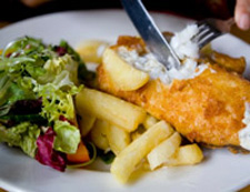 Fish, Chips and Salad