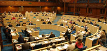 The former Chamber of the Scottish Parliament