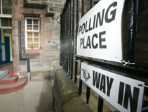 Polling station in Edinburgh