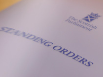 Standing Orders of the Scottish Parliament