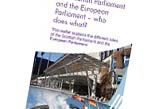 The Scottish Parliament and the European Parliament - who does what?