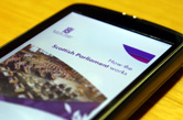 How the Scottish Parliament Works eBook on a smartphone