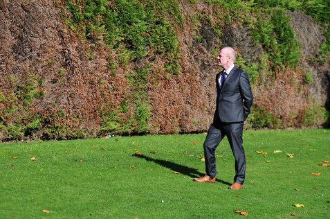 Local Government and Regeneration Committee convener Kevin Stewart MSP beside a hedge in Westburn Park, Aberdeen.