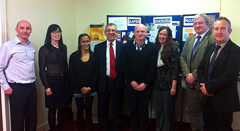 Public Petitions Committee members visit Barnardo's Sagfer Choices team in Glasgow