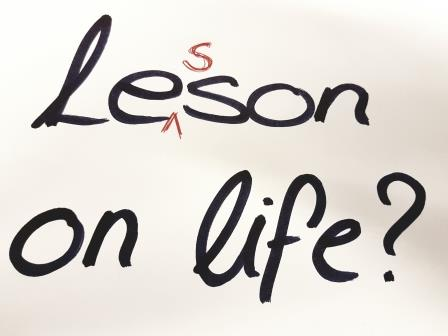 "Image of hand written ""Lesson on Life?"""