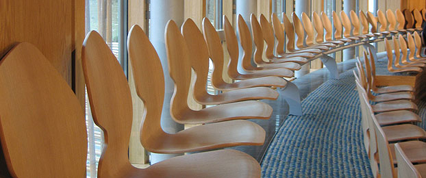 Seats in the public gallery
